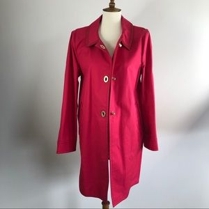 Coach pink trench coat in size 14